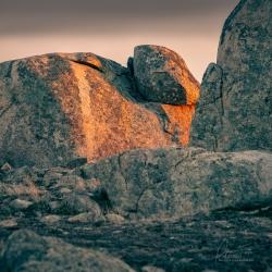 Blue Stones at Dusk - Boulder Field | Nulla Vale